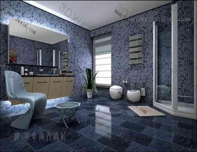 Bathroom design ideas 3d model 3dsMax files free download modeling