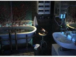 Small bathroom designs with tub 3d model