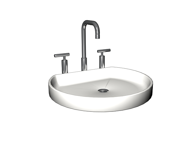 Kohler Round Basin Sink 3d Model 3dsmax Files Free