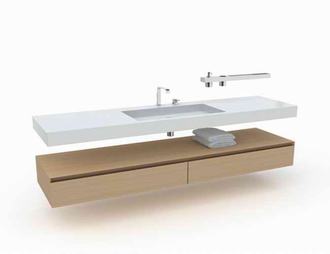 this long vanity 3d model available in 3dsmax and v ray a single sink