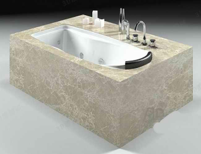 Undermount bathtub 3d model 3dsmax files free download for Bathroom design 3d free download