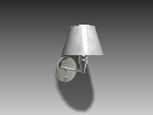 Classic Wall Lamp 3d Model 3dsmax 3ds Autocad Files Free