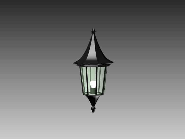 Outdoor Wall Sconce 3d Model 3dsmax 3ds Autocad Files Free