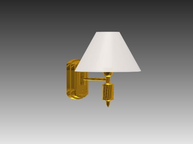 3d Wall Lamp Dwg : Modern brass wall light 3d model 3dsMax,3ds,AutoCAD files free download - modeling 17082 on CadNav