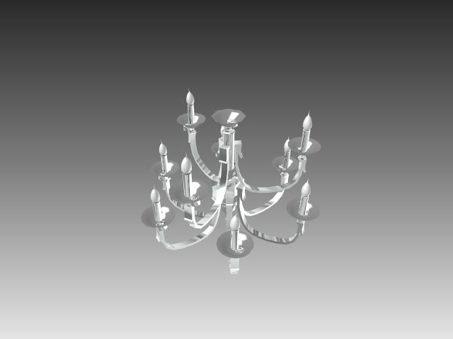 Simple chandelier light 3d model 3dsMax,3ds,AutoCAD files free ...