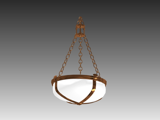 Chain hanging lamp 3d model 3dsMax,3ds,AutoCAD files free download