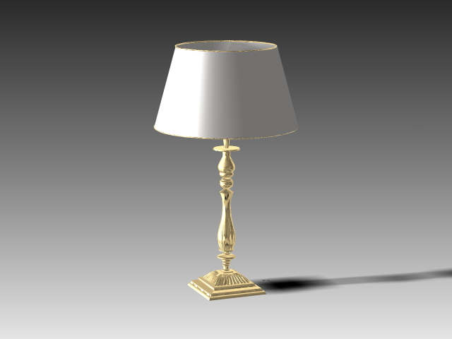 Wall Lamps 3d Model Free : Classic table lamp with lampshade 3d model 3dsMax,3ds,AutoCAD files free download - modeling ...