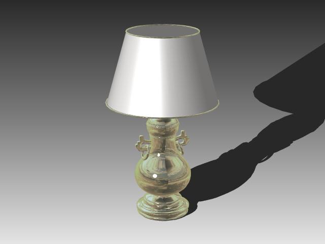 Vintage Glass Table Lamp 3d Model 3dsmax 3ds Autocad Files