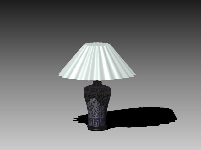 Ceramic table lamp 3d rendering