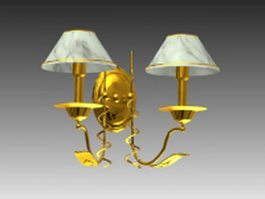 Wall light fixtures 3d model