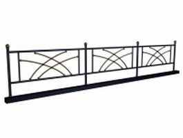 Iron garden railing 3d model
