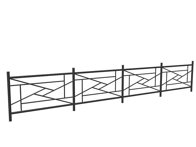 black designed railing 3d model 3dsmax 3ds files free download