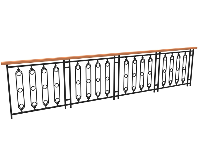 Contemporary railing design 3d model 3dsmax 3ds files free for Balcony models