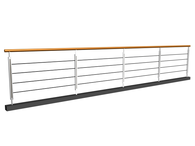 Balcony steel railing 3d model 3dsmax 3ds files free for Balcony models