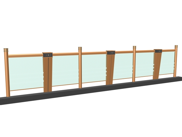 Glass railing design for balcony 3d model 3dsmax 3ds files for Balcony models