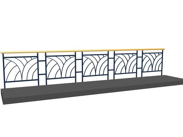 Deck Graspable Handrail 3d Model 3dsmax 3ds Files Free