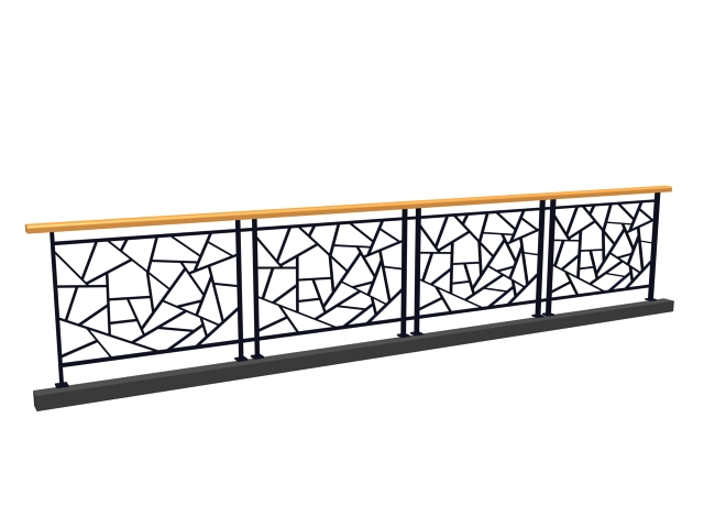 Ornamental artistic railing 3d model 3dsmax 3ds files free for Exterior 3ds max model