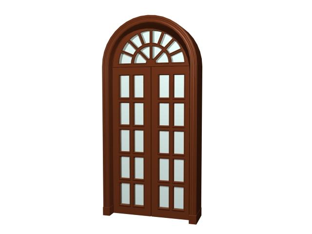 Arch Top Glazed Door 3d Model 3dsmax 3ds Files Free