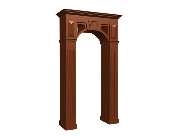 wood door frame 3d model - Wood Door Frame