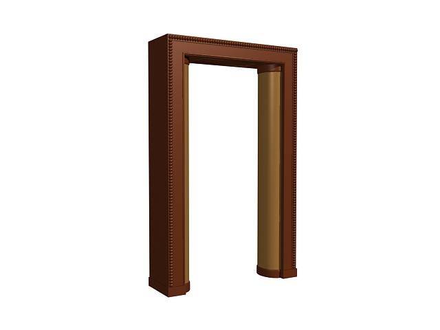 Decorative door frame 3d model 3dsMax,3ds files free download ...
