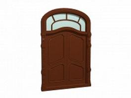 Rustic double front door 3d model