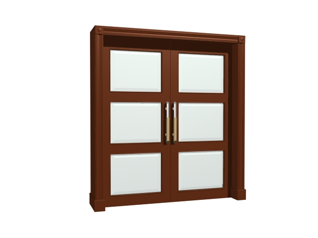 Interior Office Door With Glass 3d Model 3dsmax3ds Files Free