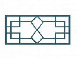 Chinese style window lattice 3d model