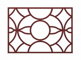 Lattice window screen 3d model