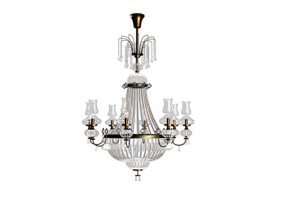 Classic chandelier luxury lighting 3d model 3dsMax,3ds files free ...
