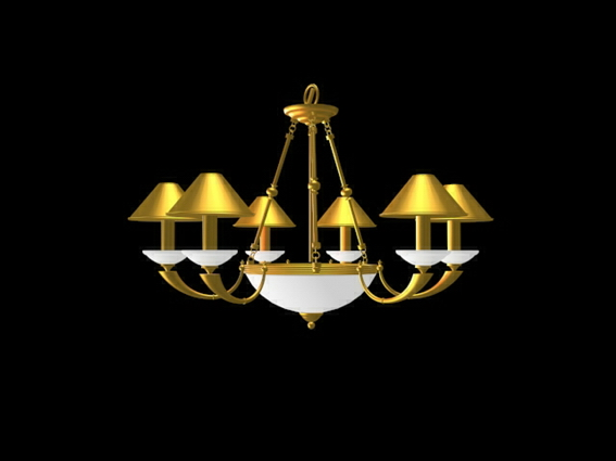 Retro golden chandelier lighting 3d model 3dsMax,3ds files free ...