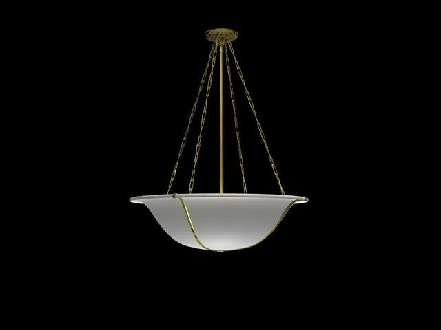 Bowl hanging light fixture 3d model 3dsMax files free download