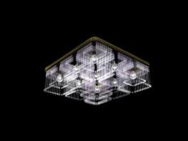 Crystal square ceiling light 3d model