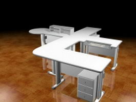 Office partition workbench 3d model