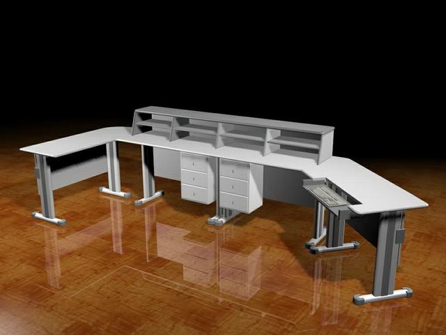 Studio Workstation Desk 3d Model 3dsmax Files Free