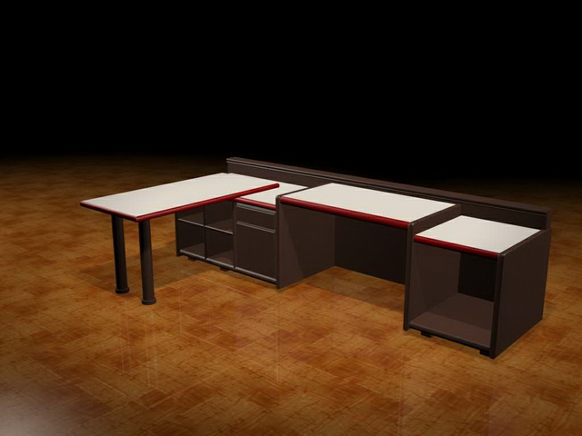 Office Workstation Units 3d Model 3dsmax Files Free Download Modeling 17362 On Cadnav