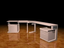 Workstation desk 3d model
