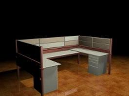 U-shaped cubicle 3d model