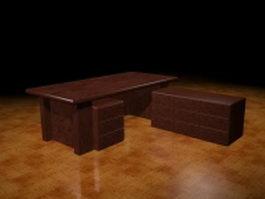 Boss executive desk 3d model