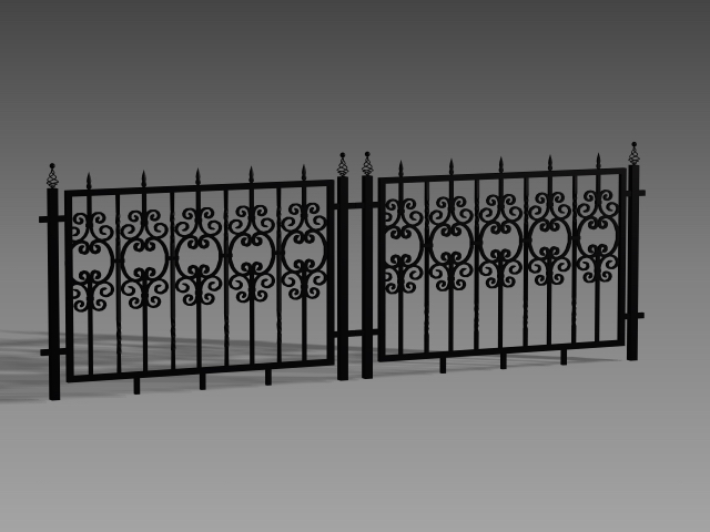 Wrought Iron Fence Designs 3d Model 3dsmax 3ds Autocad