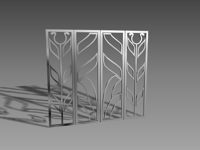Steel Window Guards 3d Model 3dsmax 3ds Autocad Files Free