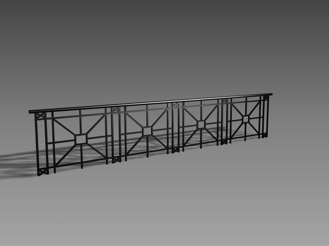Iron balcony railings 3d model 3dsmax 3ds autocad files for Balcony models