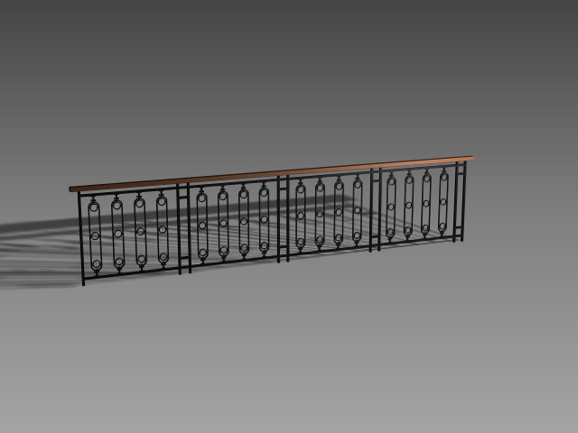 Interior railing design 3d model 3dsmax 3ds autocad files for Balcony models