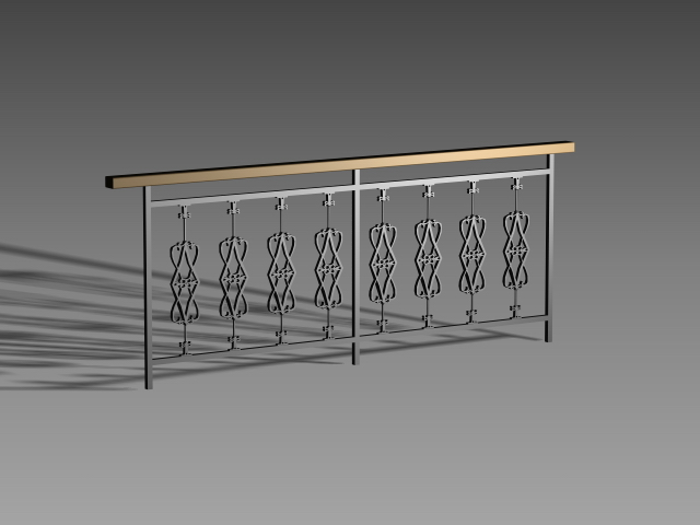 Iron Stair Handrail 3d Model 3dsmax 3ds Autocad Files Free