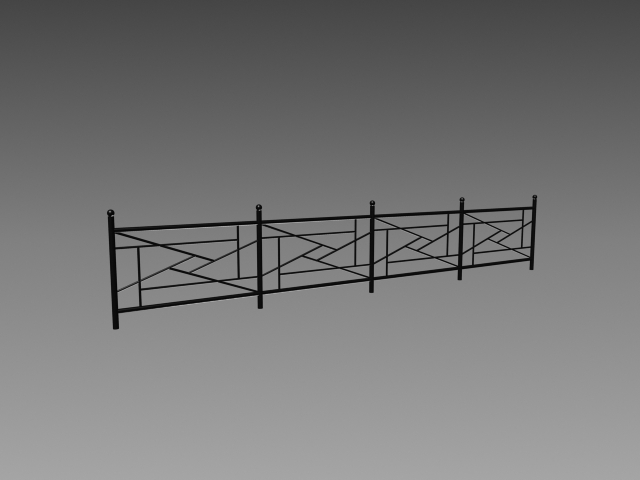Wrought Iron Fencing 3d Model 3dsmax 3ds Autocad Files Free Download Modeling 17427