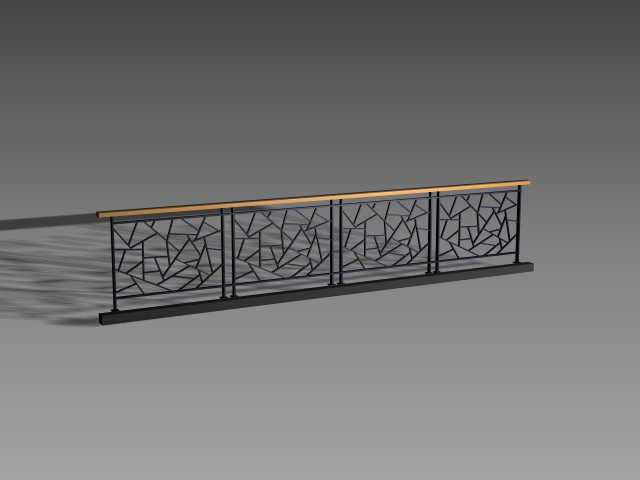 Ice Crack Iron Railing Design 3d Model Cadnav
