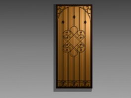 Ornamental brass door 3d model