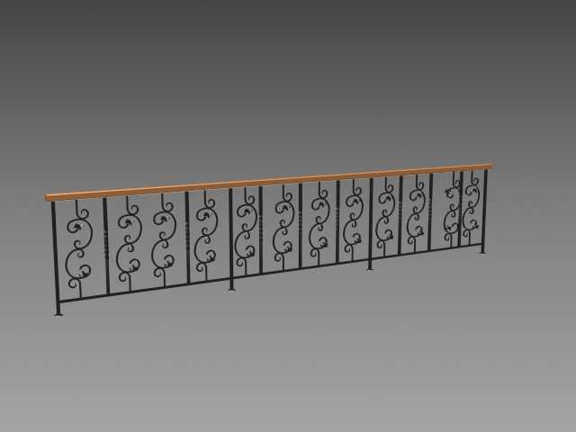 Terrace railing design 3d model 3dsMax,3ds,AutoCAD files free