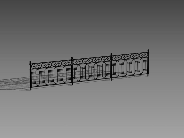 Cast Iron Railings 3d Model 3dsmax 3ds Autocad Files Free