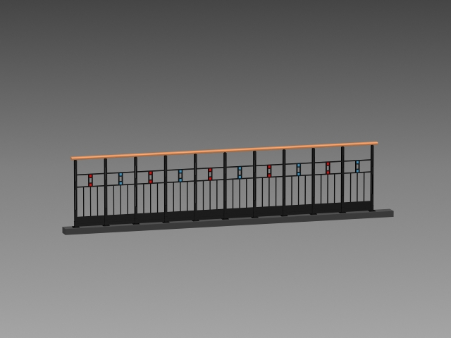Sidewalk Railing 3d Model 3dsmax 3ds Autocad Files Free