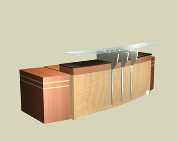 front office reception desk 3d model 3dsmax files free download